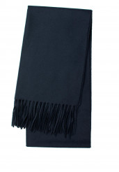 DARK NAVY LAMBSWOOL SCARF