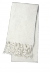 WHITE LAMBSWOOL SCARF
