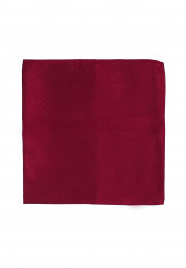 DARK RED POCKET SQUARE