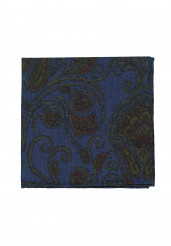 JEANS BLUE BIG PAISLEY POCKET SQUARE