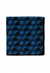 NAVY LIGHT BLUE DANDELION POCKET SQUARE