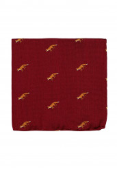 RED FOX POCKET SQUARE