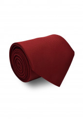 RED SOLID SILK TIE