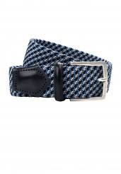 BLUE BRAIDED STRETCH BELT