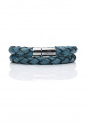 BLUE DOUBLE BRAIDED BRACELET