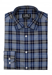 BLUE NAVY CHECK TWILL