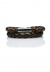 BROWN DOUBLE BRAIDED BRACELET