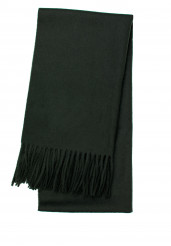 DARK GREEN LAMBSWOOL SCARF