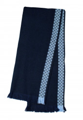 FORMULA 1 BLUE CHECK SCARF