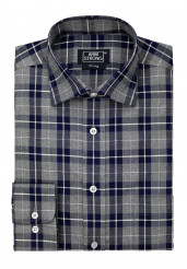 GREY NAVY CHECK TWILL