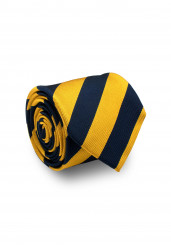 NAVY GOLD STRIPE SILK TIE