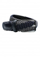 NAVY GREY STRETCH BELT