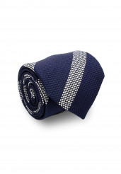 NAVY WHITE STRIPE TIE