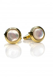 PEARL GOLD CUFF LINK