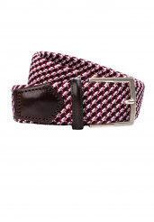 RED BRAIDED STRETCH BELT