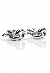 CHROME HOOP CUFF LINK