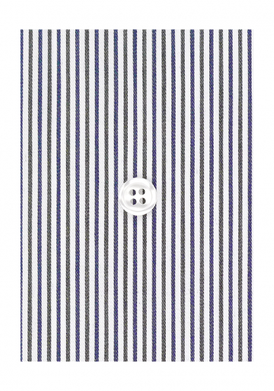 GRAY NAVY STRIPE TWILL