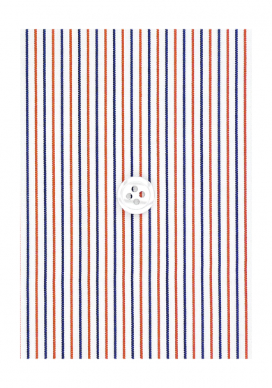 ORANGE NAVY STRIPE POPLIN