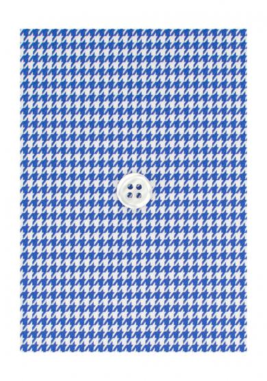 BLUE DOGTOOTH TWILL