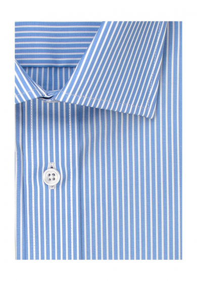 ECO LIGHT BLUE STRIPE POPLIN