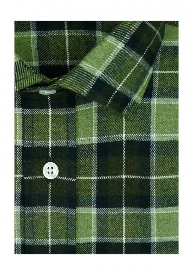 GREEN BROWN CHECK TWILL