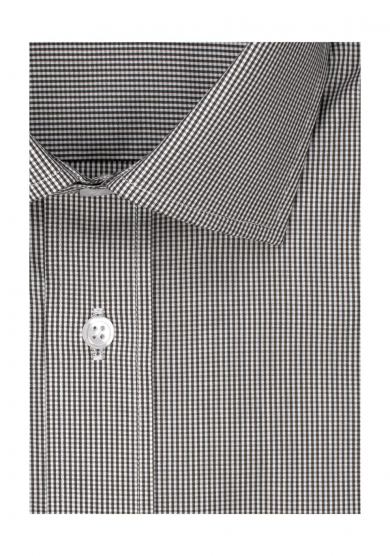 BROWN CHECK POPLIN