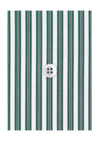 NAVY GREEN STRIPE TWILL