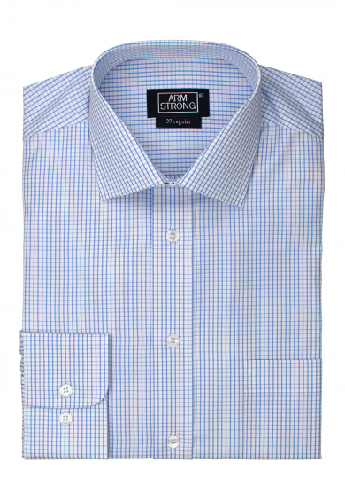 LIGHT BLUE CHECK POPLIN
