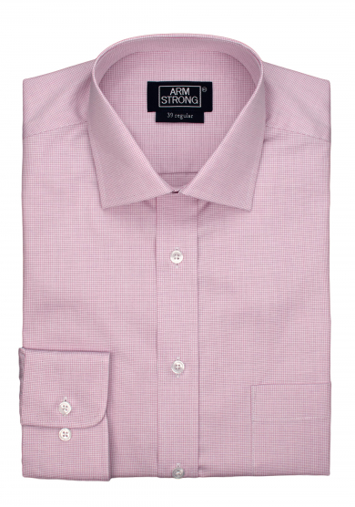 PURPLE CHECK POPLIN