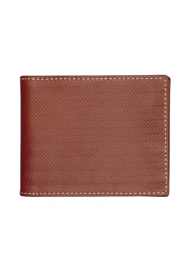 BROWN HERRINGBONE WALLET
