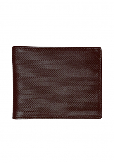 DARK BROWN HERRINGBONE WALLET