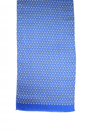 BLUE SHAPES SCARF