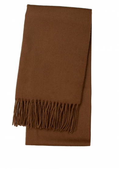 BROWN LAMBSWOOL SCARF