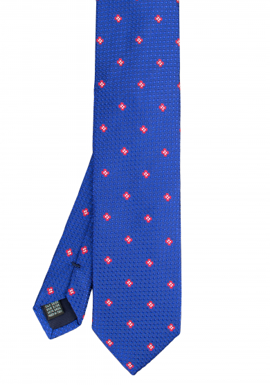 BLUE RED FLOWER TIE