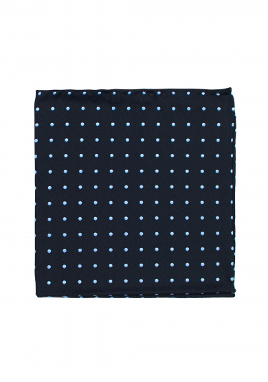 NAVY LIGHT BLUE DOT
