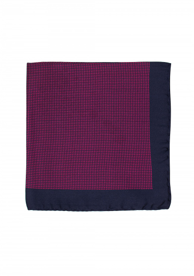 NAVY RED DOGTOOTH