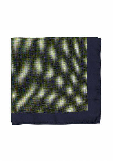 NAVY GREEN DOGTOOTH