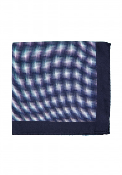 NAVY LIGHT BLUE DOGTOOTH