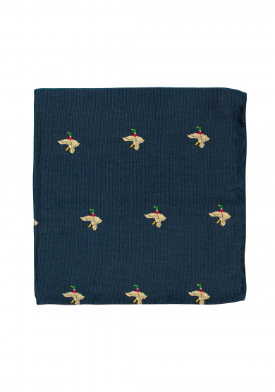 BLUE MALLARD POCKET SQUARE