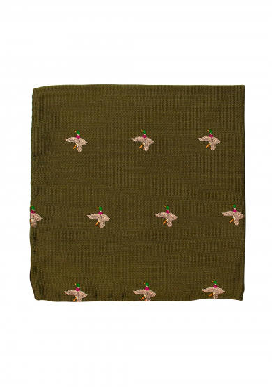 GREEN MALLARD POCKET SQUARE