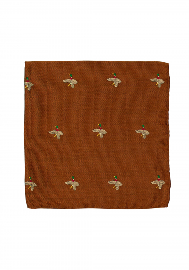 ORANGE MALLARD POCKET SQUARE