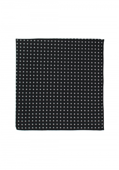 BLACK STAR POCKET SQUARE