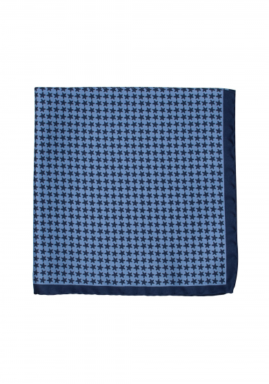 BLUE STAR POCKET SQUARE