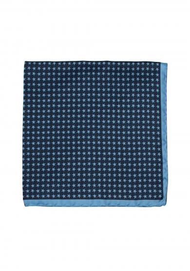 NAVY STAR POCKET SQUARE