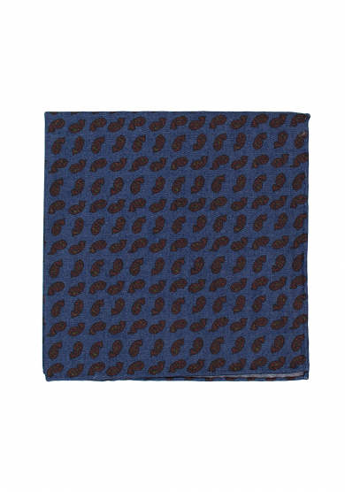JEANS BLUE PAISLEY POCKET SQUARE