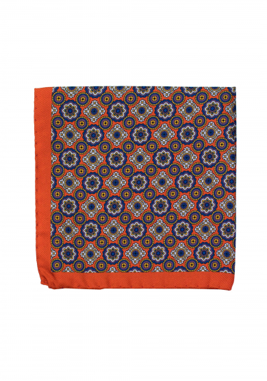 ORANGE PATTERN POCKET SQUARE