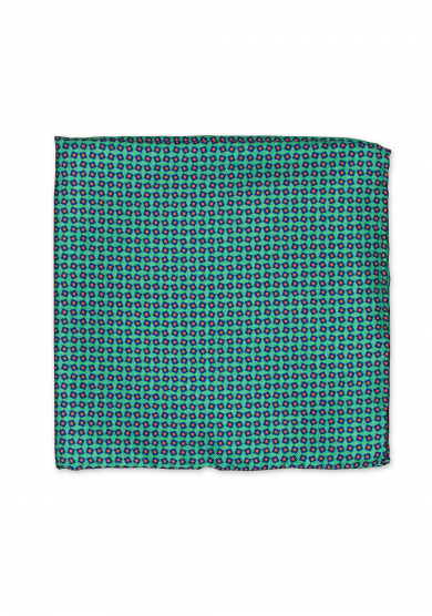 GREEN PATTERN POCKET SQUARE