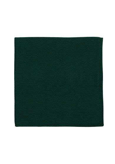 DARK GREEN GRENADINE POCKET SQUARE