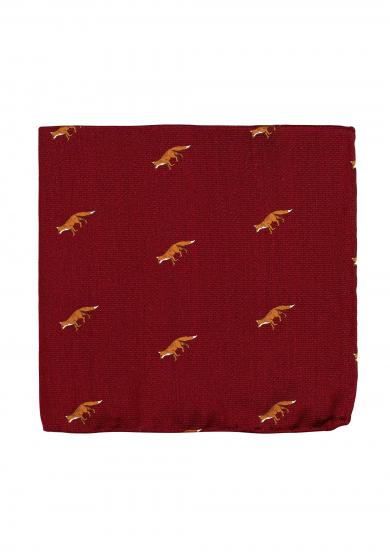 RED FOX POCKET SQUARE