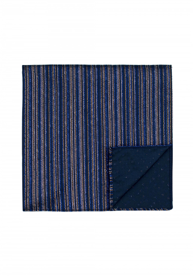 NAVY GLITTER STRIPE POCKET SQUARE